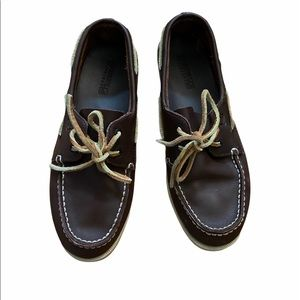 EUC brown leather Sperry original boat shoe 6.5.
